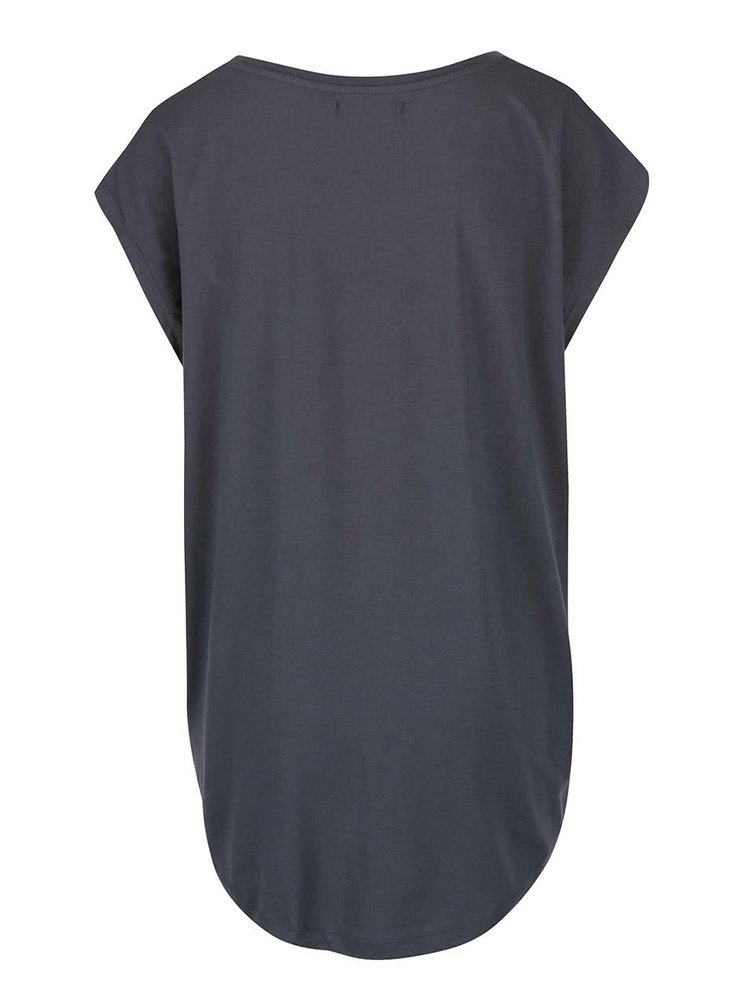 Tmavě šedé volné tričko s nápisem VILA Dreamers