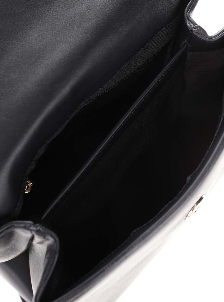 Čierna crossbody kabelka s detailmi v zlatej farbe LYDC
