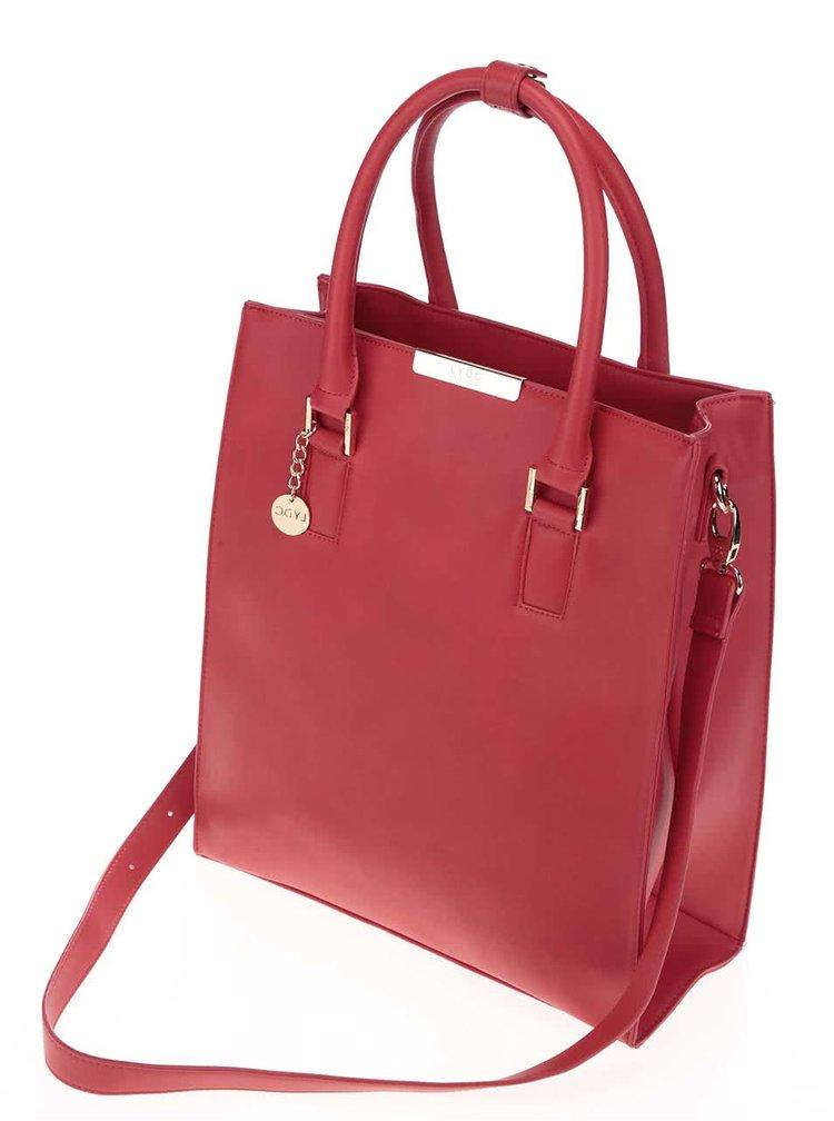 Červená obdĺžniková kabelka do ruky LYDC