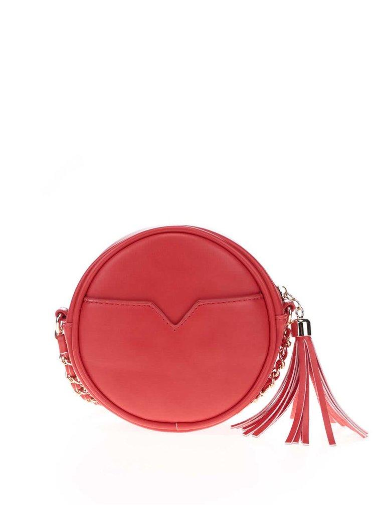 Červená crossbody kabelka ve tvaru berušky Anna Smith