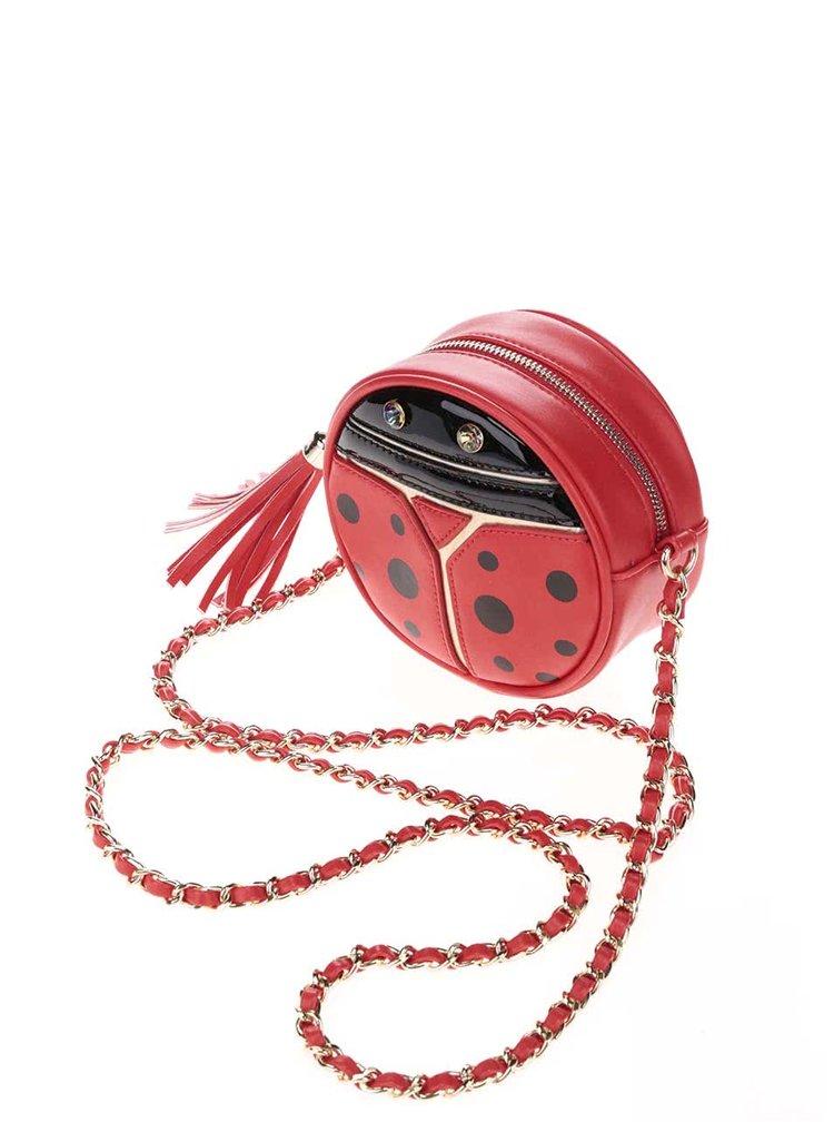 Červená crossbody kabelka v tvare lienky Anna Smith