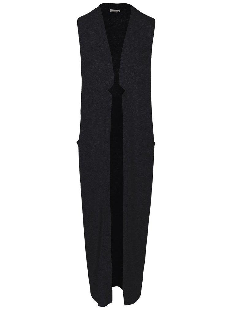 Černá dlouhá kardigan vesta Noisy May Evita