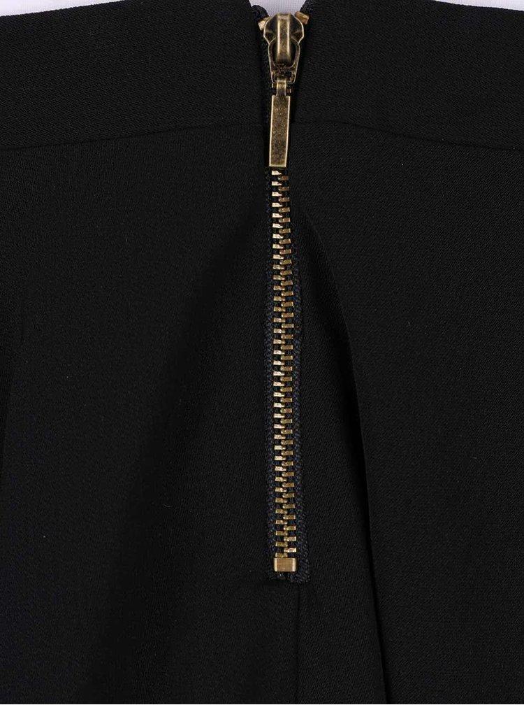 Černé šaty s tenkými ramínky VERO MODA Wanda