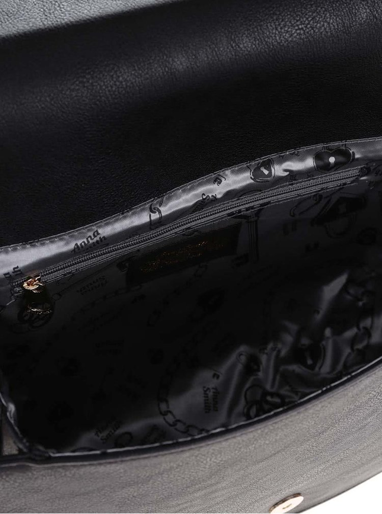 Krémovo-čierna menšia crossbody kabelka LYDC