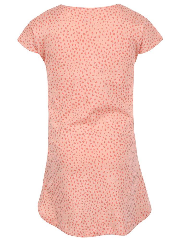 Světle růžové holčičí vzorované šaty name it Tvigga