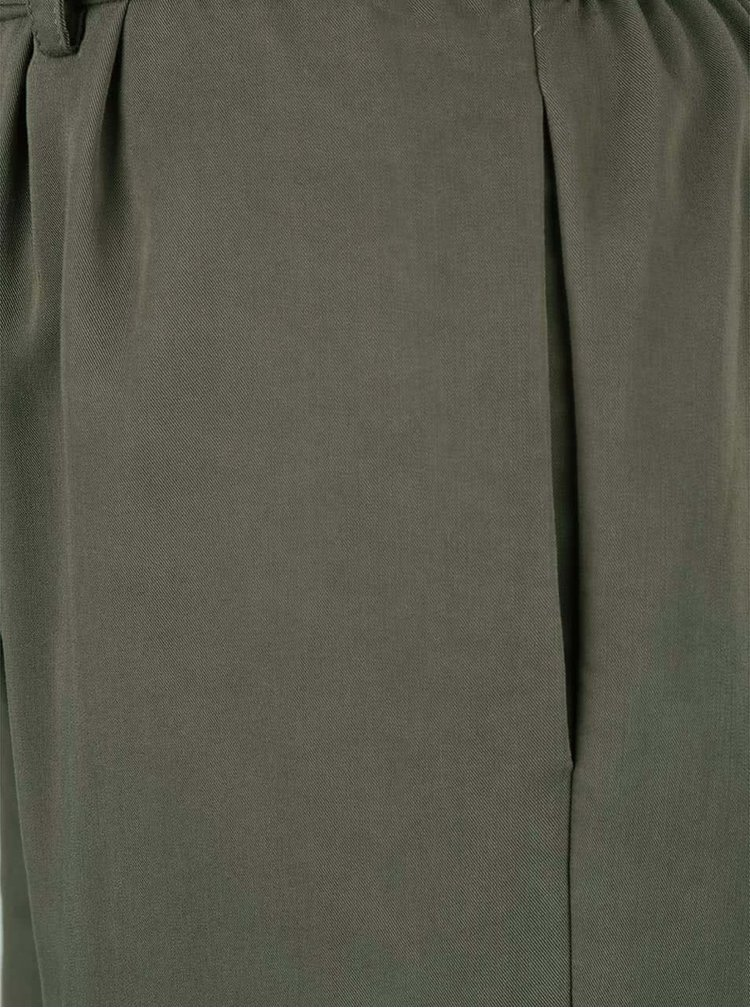 Pantaloni ONLY Leda verde închis