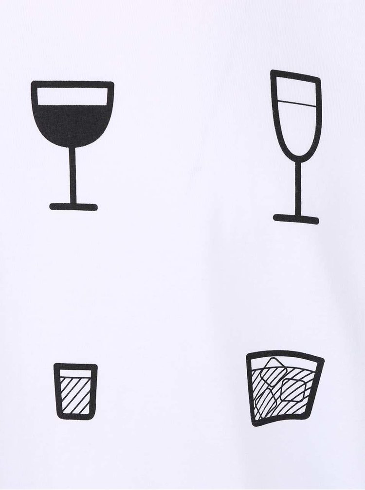 Tricou barbati ZOOT Originál Drinks alb