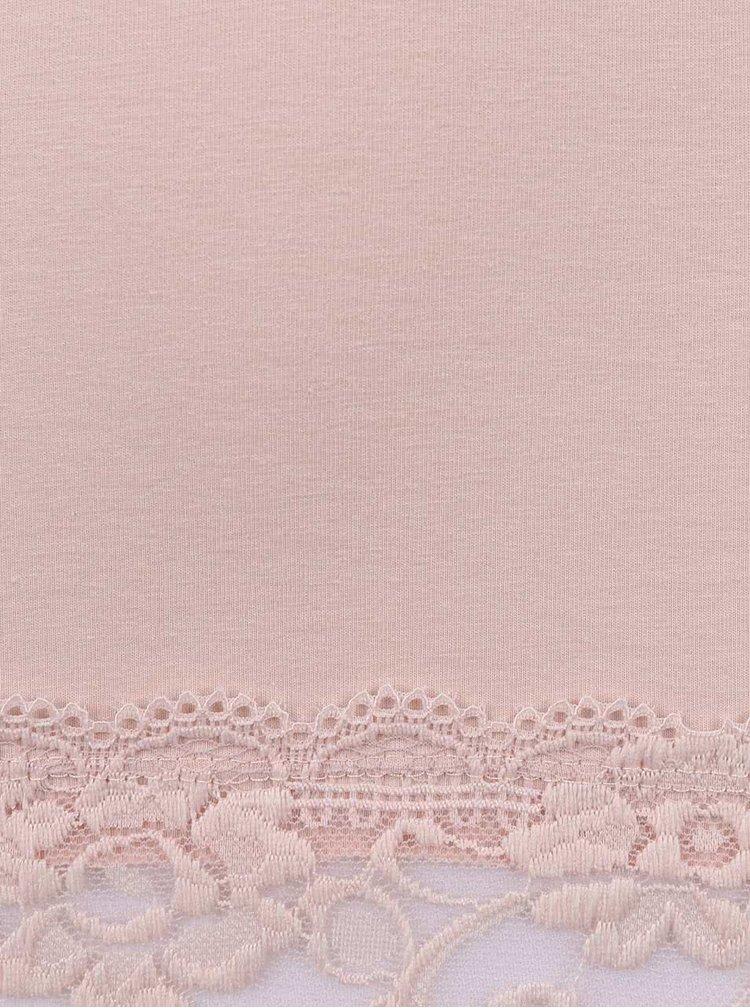 Pudrově růžové tílko Haily´s s krajkovaným lemem Cami Melinda