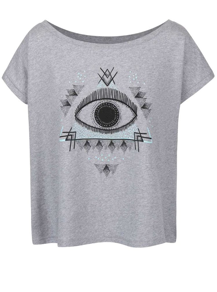 Šedé dámské volnější tričko ZOOT Originál Oko