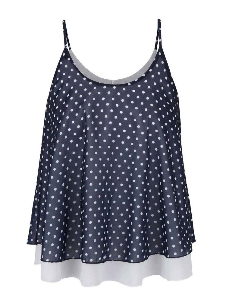 Tmavě modrý top s bílými puntíky Haily´s Dots