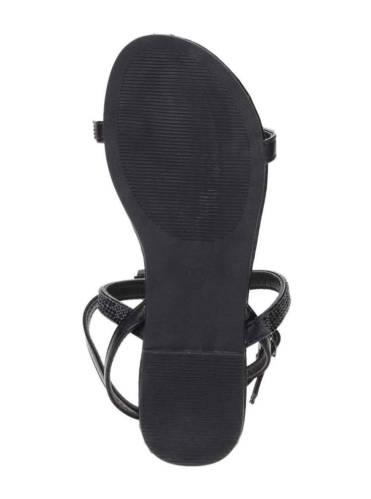 Čierne sandále so strapcami Jenny Haily's