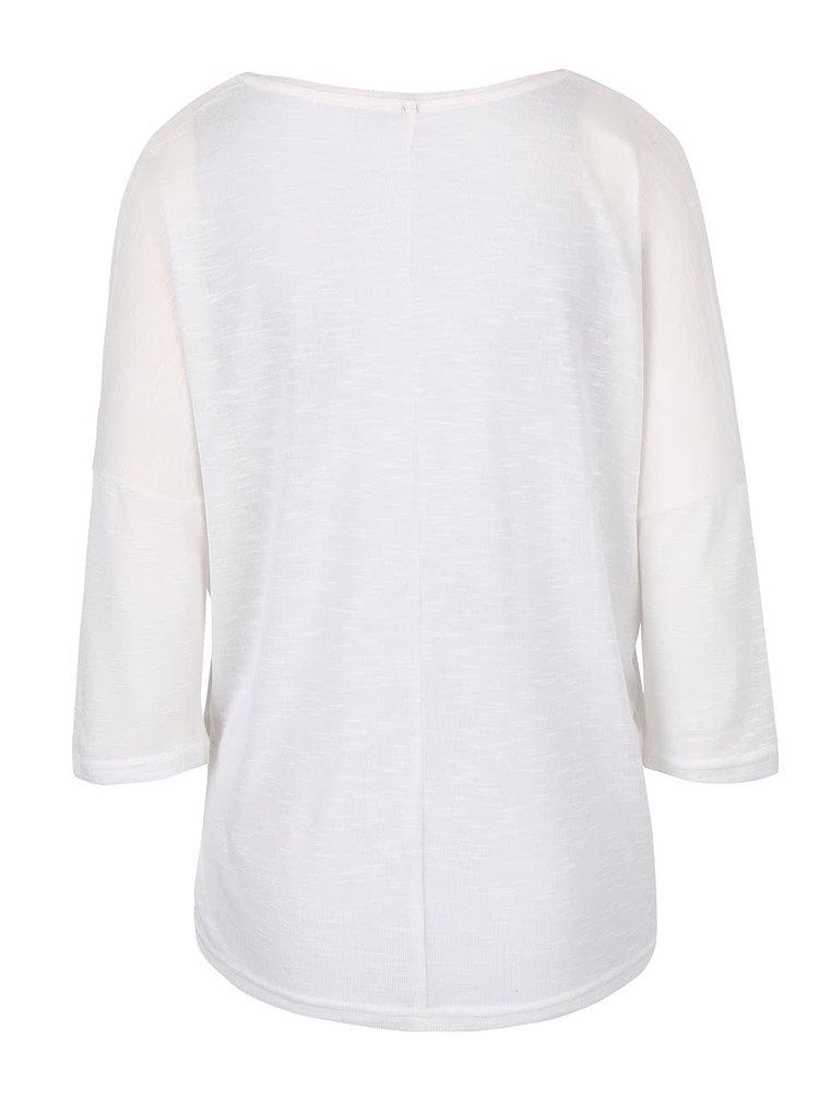 Krémový ľahký sveter s 3/4 rukávmi Haily´s Laureen