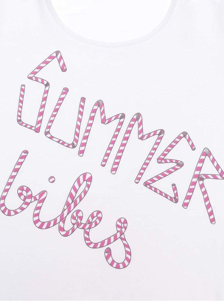 Bílé body s krátkým rukávem ZOOT Originál Summer Vibes