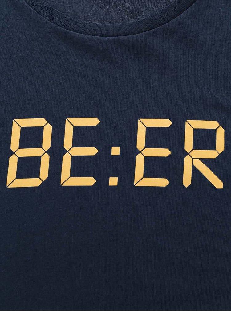 Tmavě modré pánské triko ZOOT Originál Beer Time