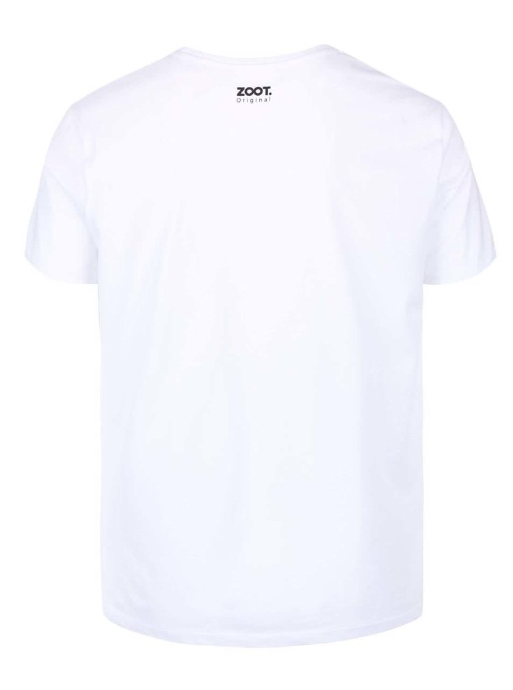 Biele pánske tričko ZOOT Originál Music On, World Off