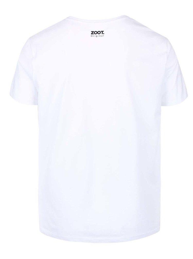 Tricou alb ZOOT Original Rock On cu imprimeu