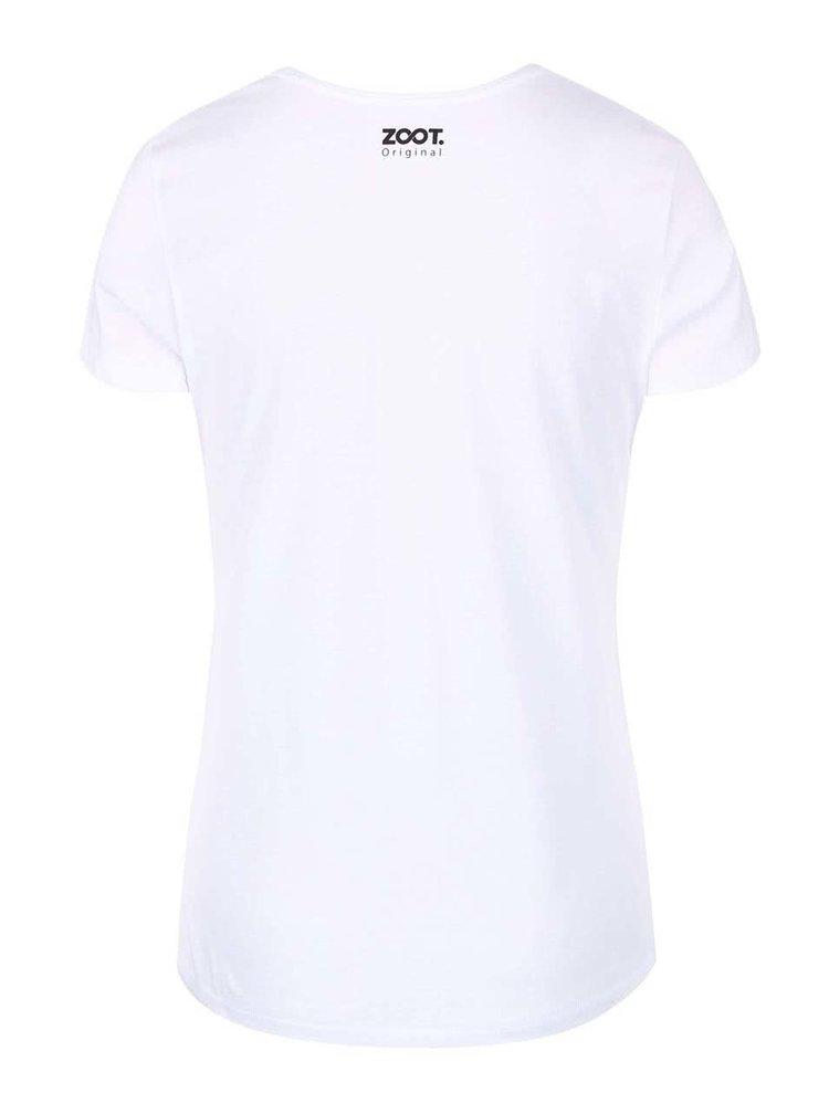 Biele dámske tričko ZOOT Originál Festuj, festuj, vykrúcaj