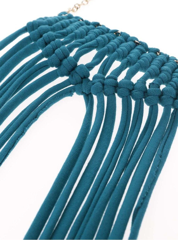 Colier cu franjuri albastre ZOOT Original