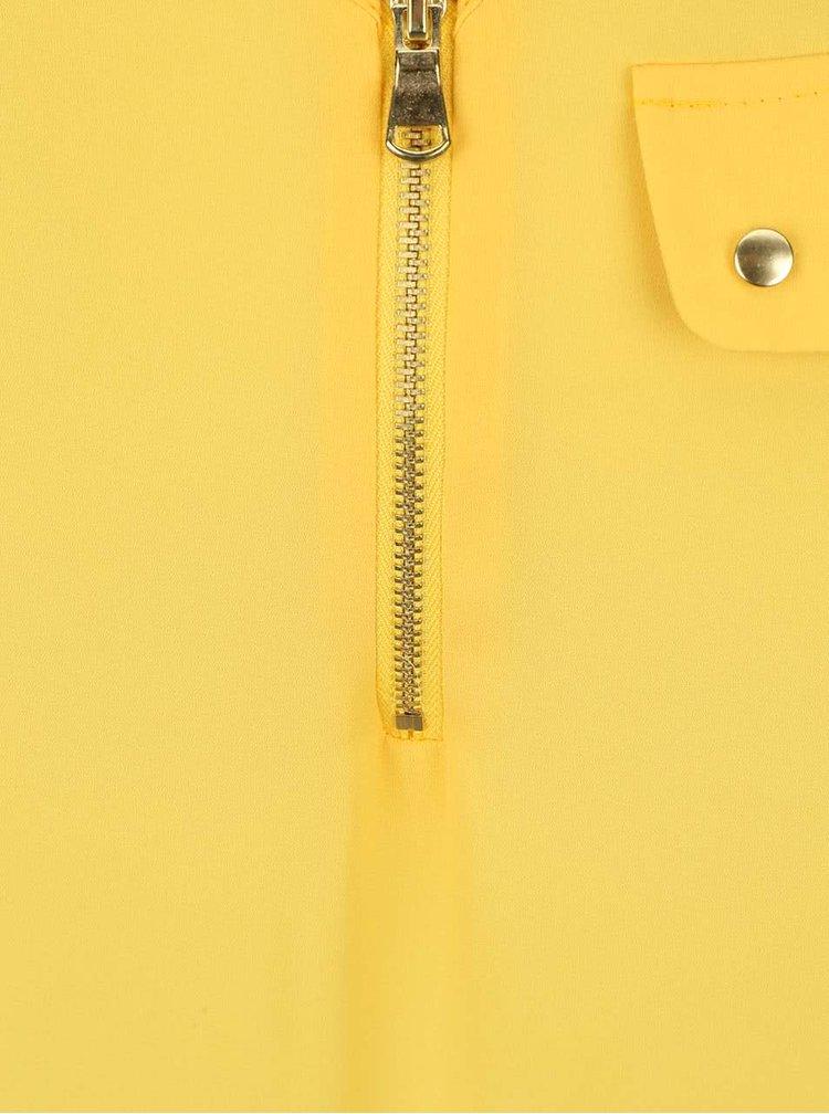 Žluté tílko s ozdobným zipem Dorothy Perkins