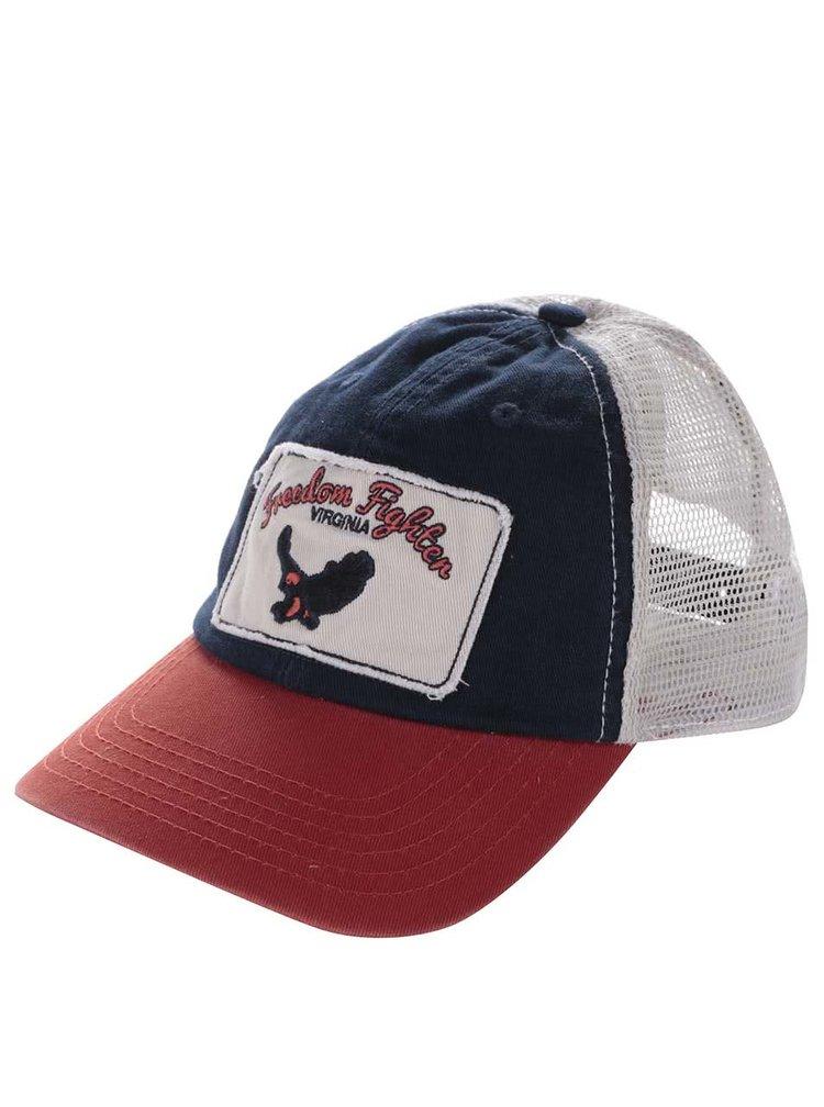 Șapcă Jack & Jones Classic crem-roșie