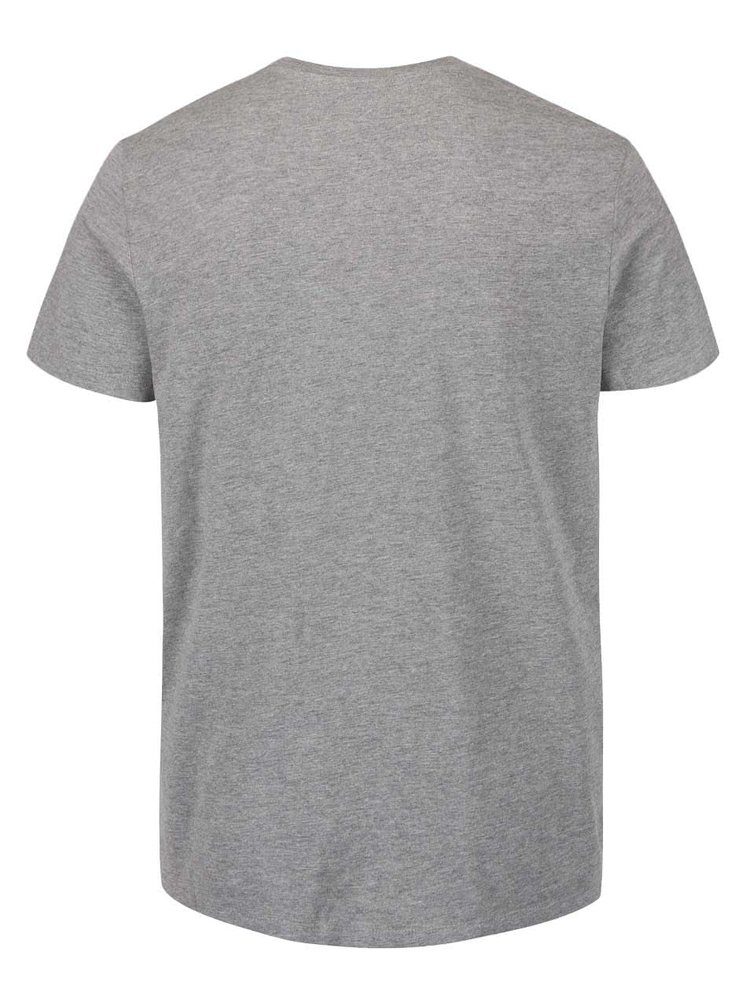 Sivé tričko s potlačou Jack & Jones Wilson