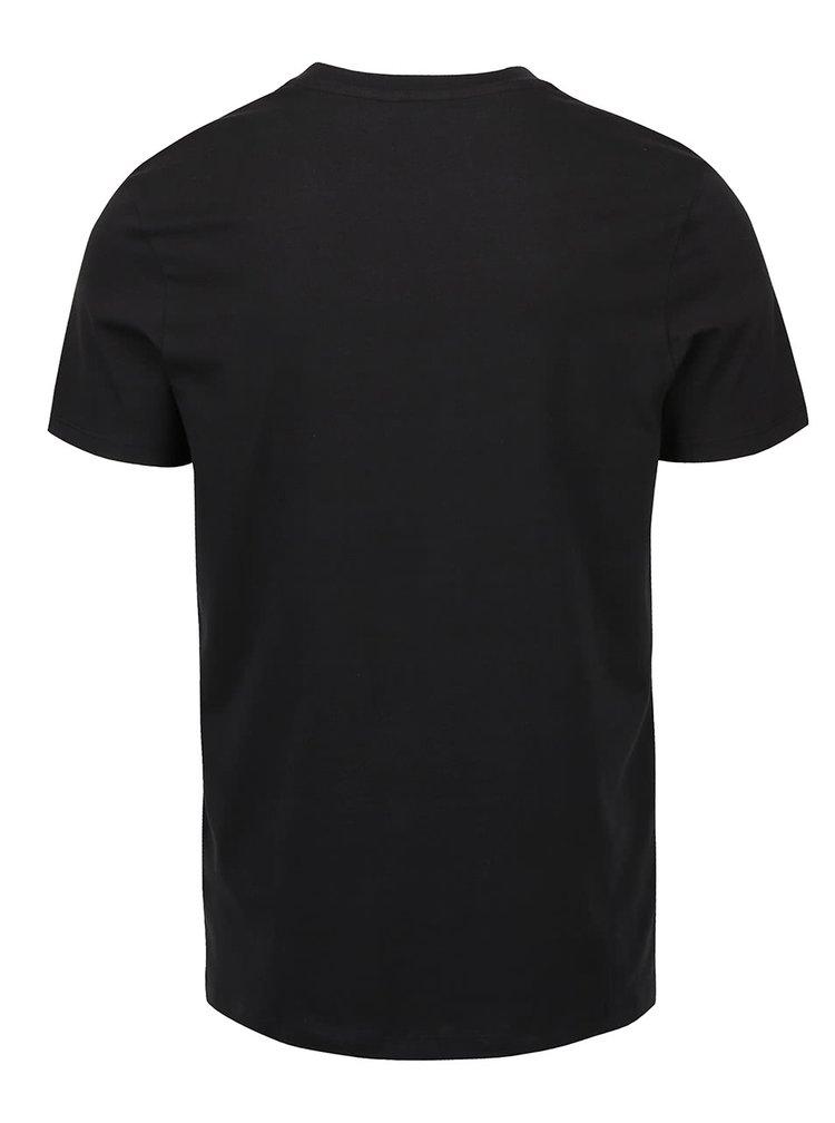 Tricou cu print Jack & Jones Wilson negru