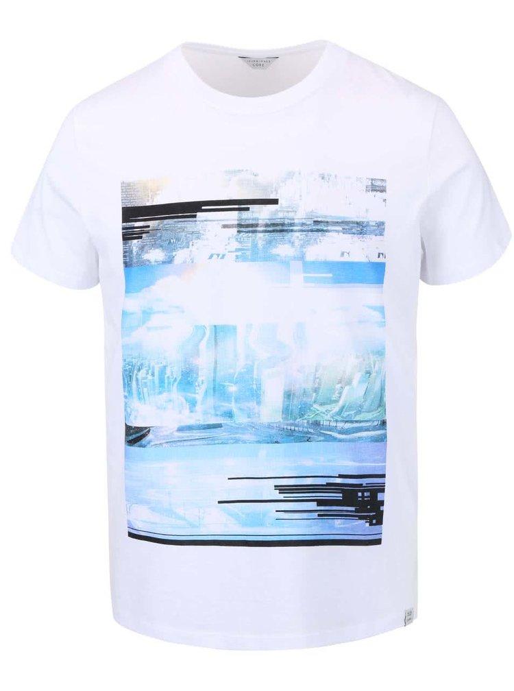 Biele tričko s potlačou Jack & Jones Wilson