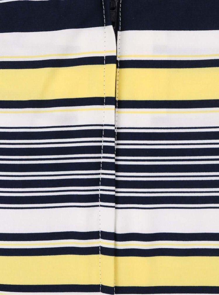 Rochie cu dungi Dorothy Perkins galben-albastră