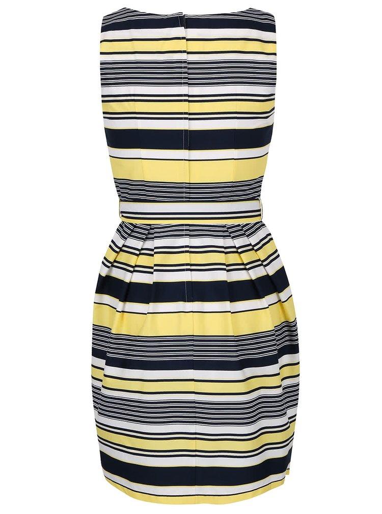 Žluto-modré šaty s mašlí Dorothy Perkins