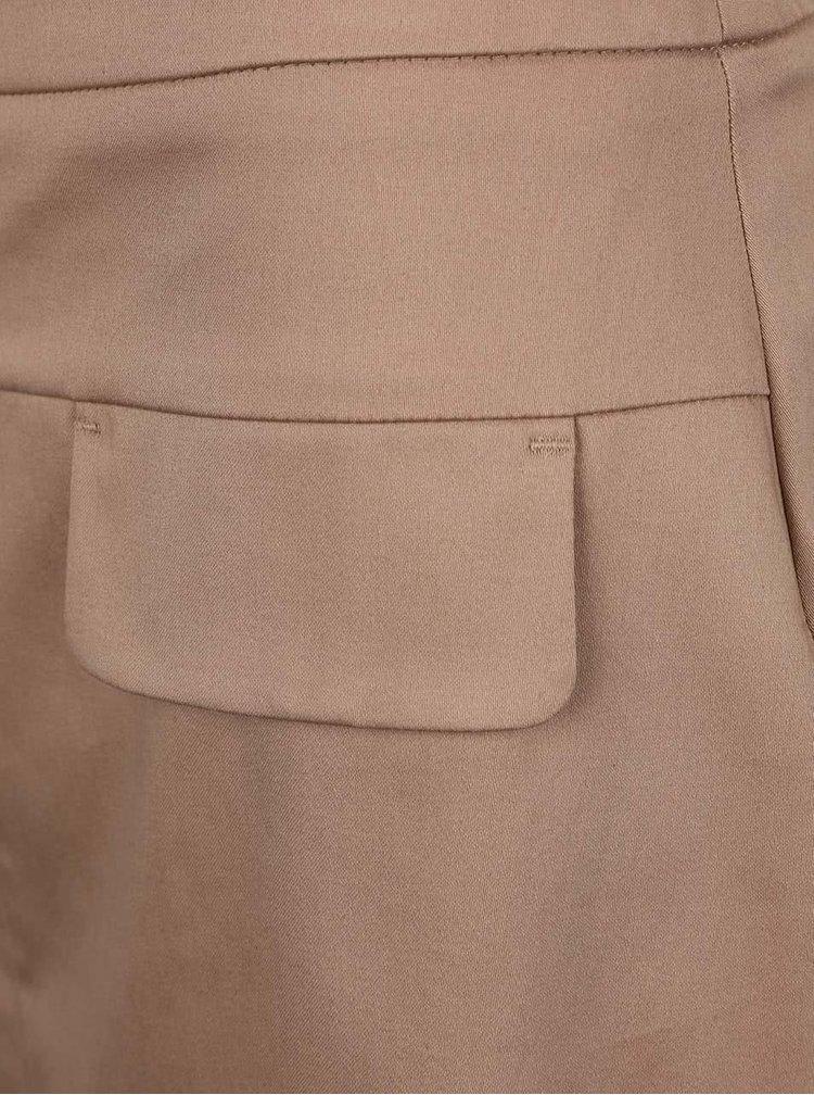 Béžová sukně s rozparkem Dorothy Perkins