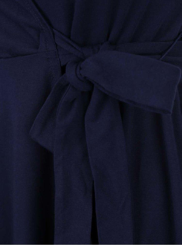 Tmavě modré zavinovací šaty Dorothy Perkins