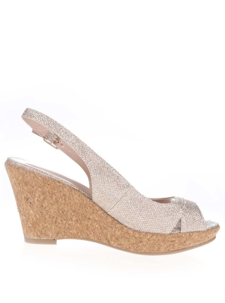 Sandale cu toc Dorothy Perkins aurii