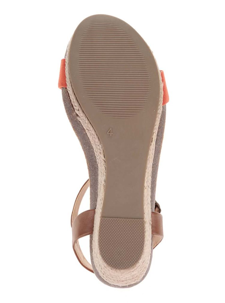Sandale Dorothy Perkins maro cu portocaliu