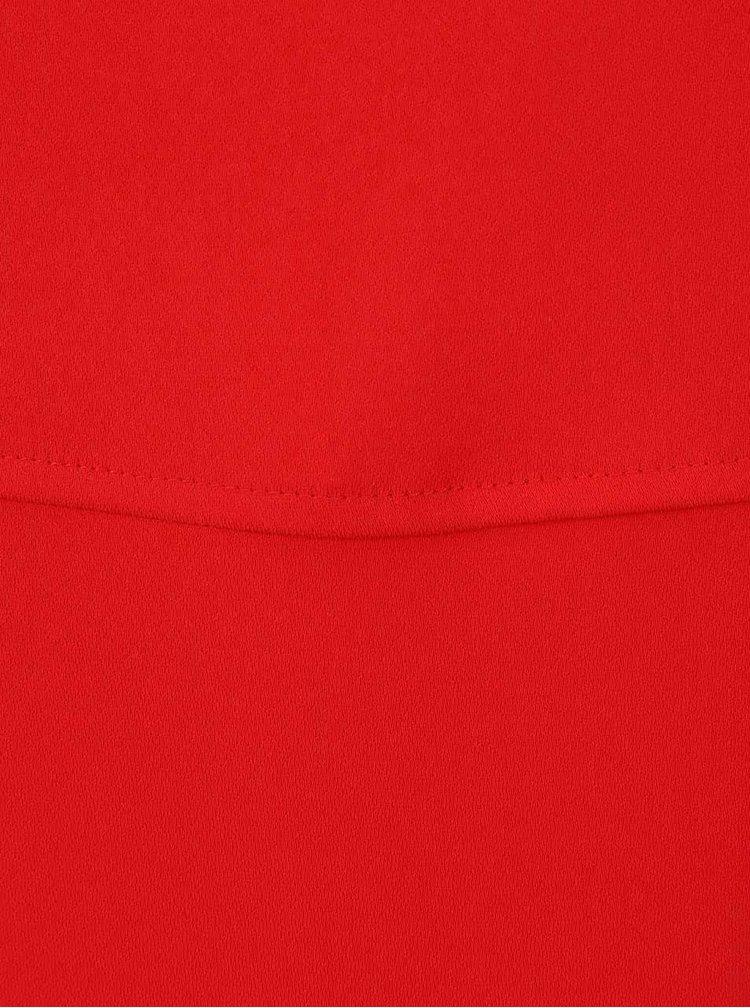 Červené maxišaty s laclem a rozparky Dorothy Perkins