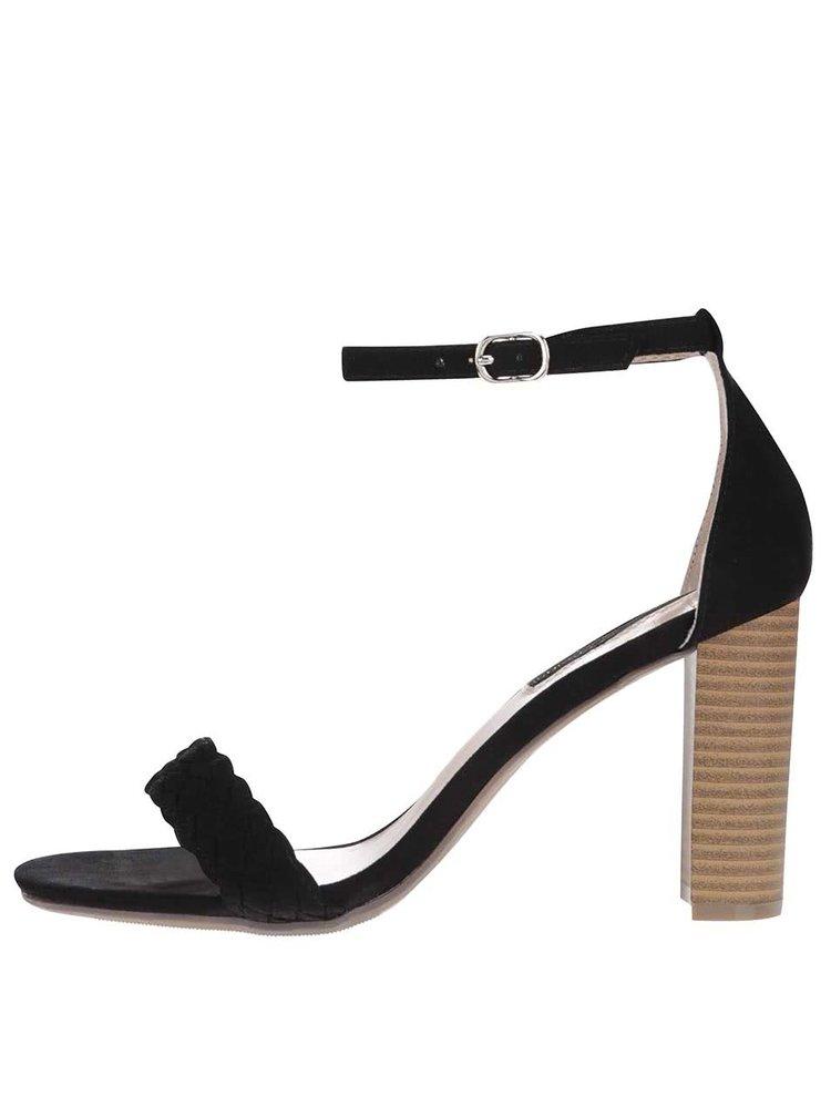 Čierne sandále na vysokom podpätku Dorothy Perkins