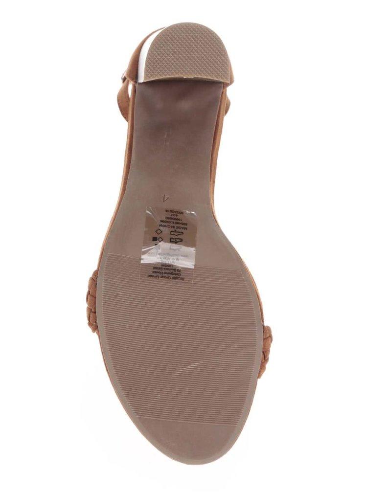 Hnědé sandály na vysokém podpatku Dorothy Perkins