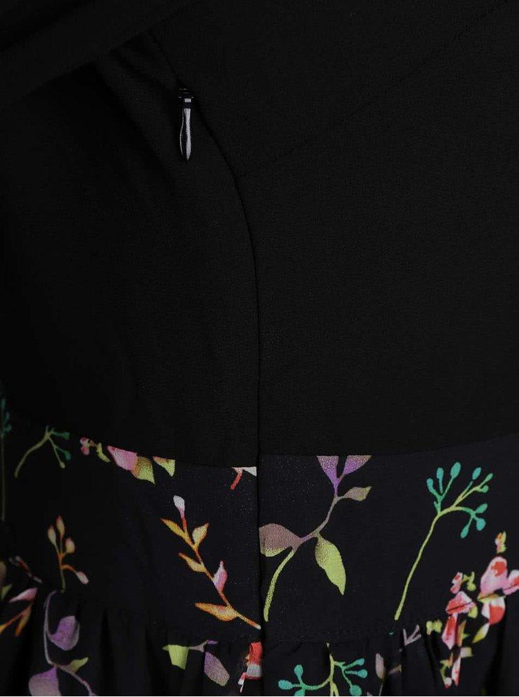 Černé šaty s dlouhými volnými rukávy LYDC