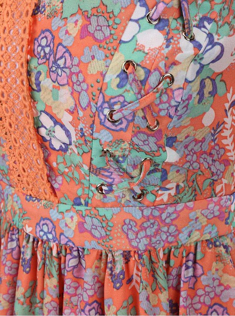 Rochie cu imprimeu LYDC portocaliu