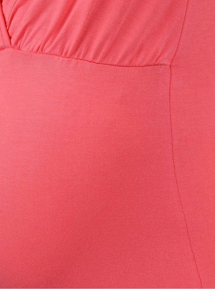 Korálové těhotenské tričko Mama.licious Anette