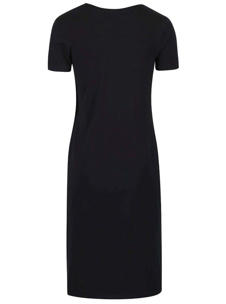 Černé těhotenské/kojicí šaty Mama.licious Lea