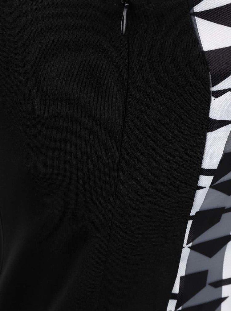 Rochie cu imprimeu LYDC alb-negru