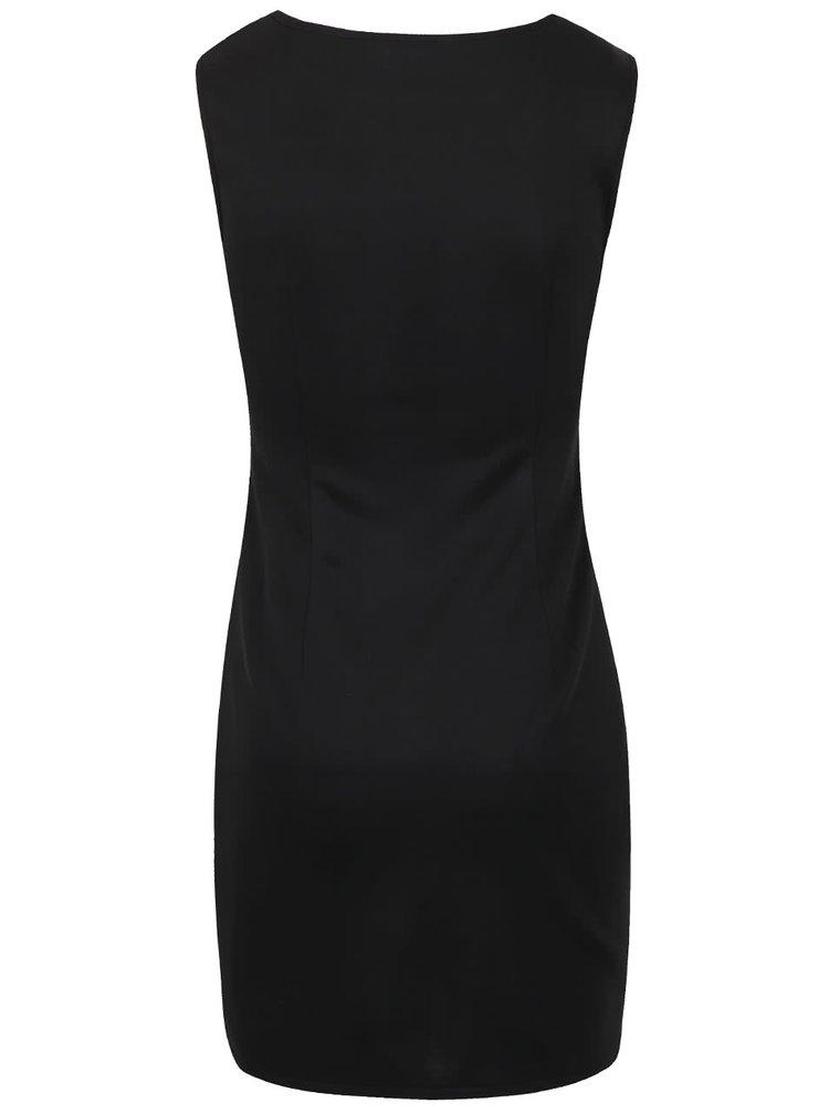 Bílo-černé vzorované šaty bez rukávů LYDC