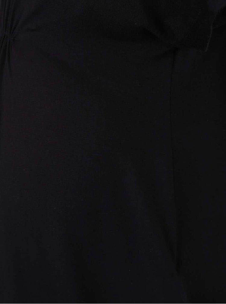 Černé těhotenské šaty Mama.licious Rape