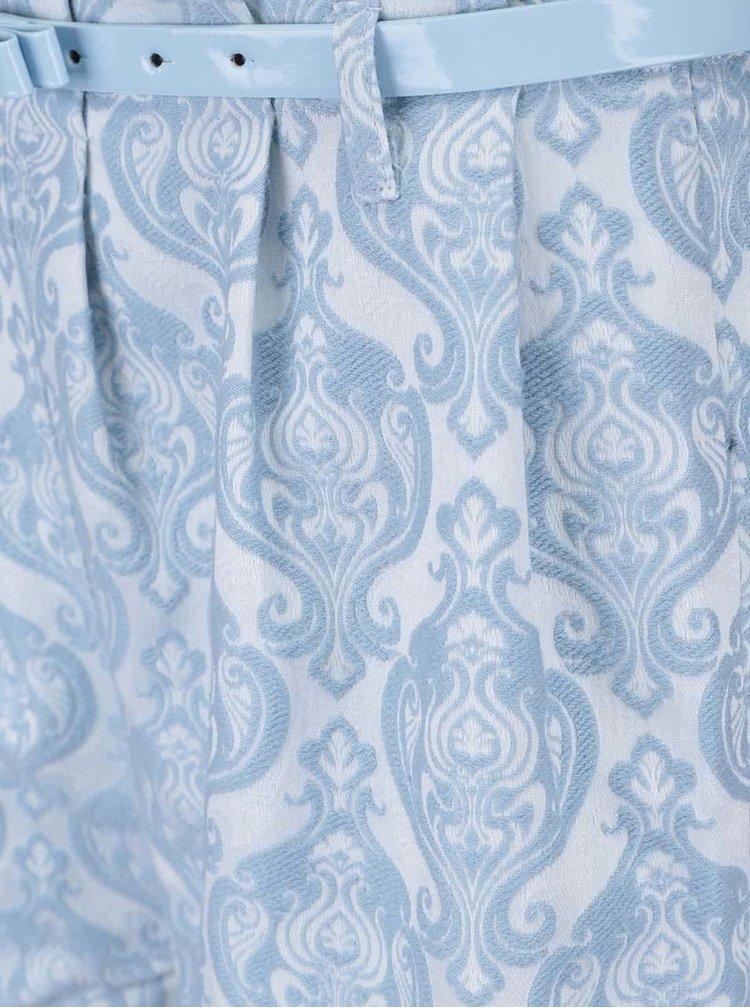 Modré vzorované šortky s opaskom Anna Smith