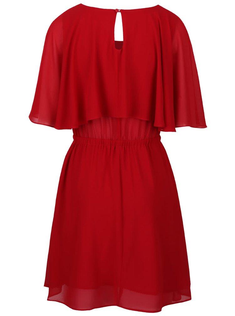 Červené šaty stiahnuté v páse LYDC