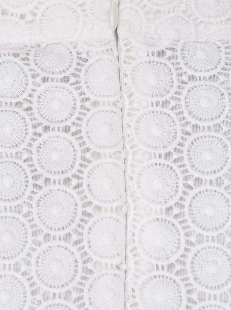 Krémová madeirová sukňa Anna Smith