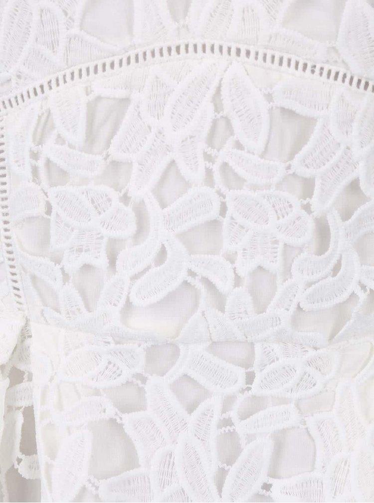 Krémové krajkové šaty na ramínka LYDC