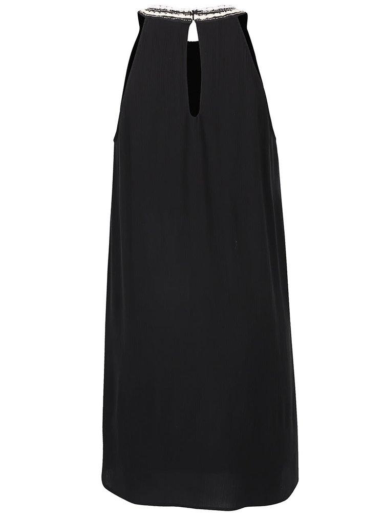 Čierne šaty s ozdobným dekoltom VERO MODA Zura