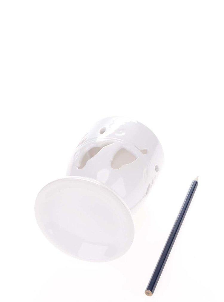 Bílá aromalampa s ptáčky Dakls