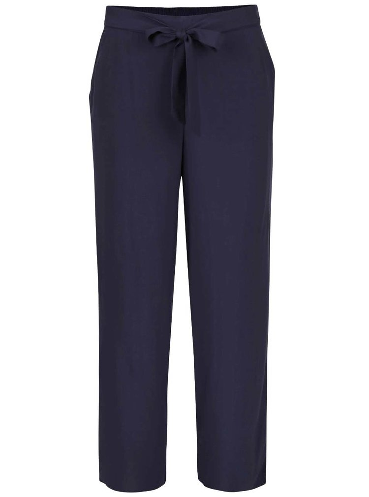 Tmavomodré voľnejšie nohavice ONLY Nova Plain